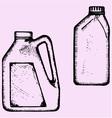 motor oil plastic bottle vector image