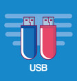 usb memory retro technology icon vector image