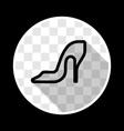 Elegant women high heel shoe vector image
