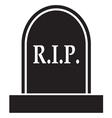 graveyard RIP Icon vector image
