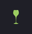 wine glass computer symbol vector image