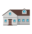 family house exterior concept design vector image