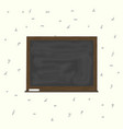 blackboard background and wooden frame rubbed out vector image