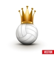 Volleyball ball with royal crown of queen vector image