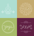 linear yoga logo vector image