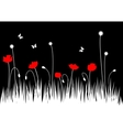 poppy meadow vector image vector image