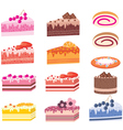 cakes pieces vector image vector image