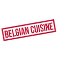 Belgian Cuisine rubber stamp vector image