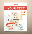 Brochure Cover Design - Infographics Layout - vector image