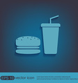 burger and paper cup symbol of fast food vector image