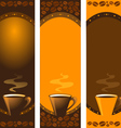 coffee banners set vector image