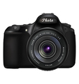 Digital SLR photo camera vector image