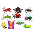 Insect cartoon collection set vector image