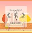 international peace day poster 21 september 2017 vector image
