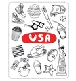 set of tourist attractions vector image