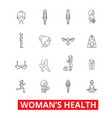 womens health fitness healthy woman breast vector image