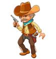 A cowboy holding a gun vector image