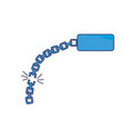 good metal chain to protect something vector image