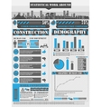 INFOGRAPHIC WORK BLUE vector image