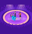 isometric magic show concept vector image
