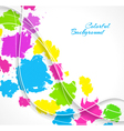 Abstract background with colorful splash vector image vector image