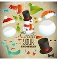 Create your snowman Set of elements for collage vector image