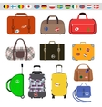 Travel bags vector image