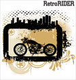 retro rider background vector image vector image
