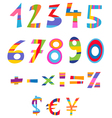 fun numbers vector image vector image
