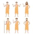 Set of Cavemen vector image