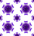Beautiful violet flower Seamless floral pattern vector image