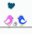 Bird family collage vector image