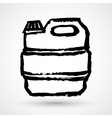 Jerrycan grunge icon vector image