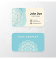 Lovely business name card template design vector image