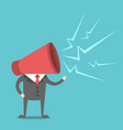 man with megaphone head vector image