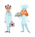 People cook and doctor different professions vector image