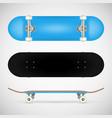 realistic skateboard template vector image