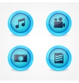 Set of glossy multimedia icons vector image