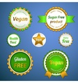 Organic labels logos and stickers vector image vector image