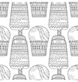 Black white seamless pattern with decorative ice vector image