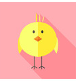 Yellow chicken vector image