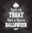 chalkboard Halloween background vector image