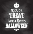 chalkboard Halloween background vector image vector image