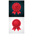 award badge with ribbon vector image vector image