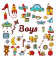 Boys design elements Cute hand drawn boys vector image
