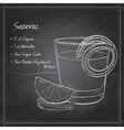 Classic sazerac cocktail on black board vector image