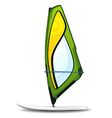 windsurfing board vector image vector image