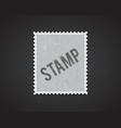 white stamp mockup eps 10 high quality vector image