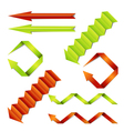 Paper arrows set vector image