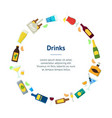 cartoon alcoholic beverages banner card circle vector image